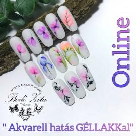 """""""Akvarell hatás GÉLLAKKal"""" Online - Bodó Zitával"""