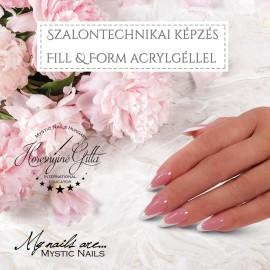 Orosháza - Szalontechnikai Képzés Fill & Form Acrylgellel- Horesnyiné Gittával - július 03.- 2021